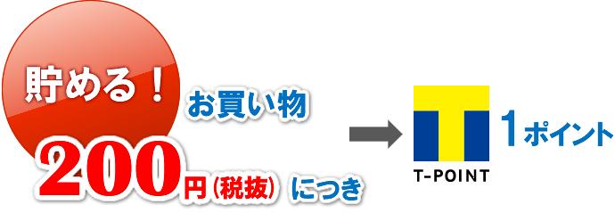 200円(税抜)につき